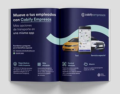 Cabify Empresas más opciones