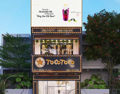 Mẫu thiết kế nội thất quán trà sữa TocoToco
