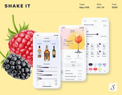Food drink App for IOS UX/UI/Motion design