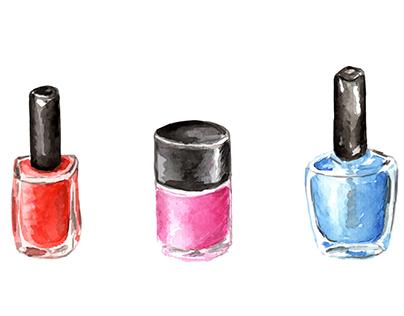Watercolor cosmetic set