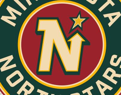 Minnesota Wild North Stars Rebrand Concept