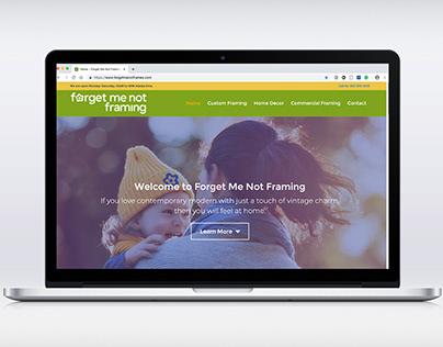 Forget Me Not Framing website