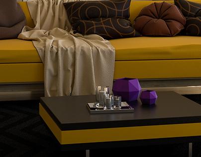Yellow Sofa Interior