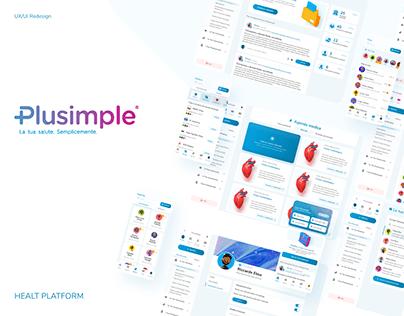 Plusimple - health platform UX redesign