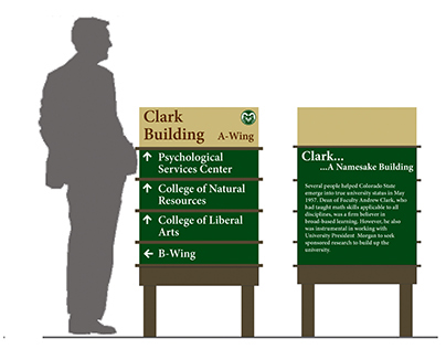 Colorado State University Campus Signage