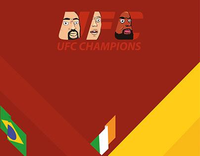 """UFC magazine design """"Champ-Champ"""""""