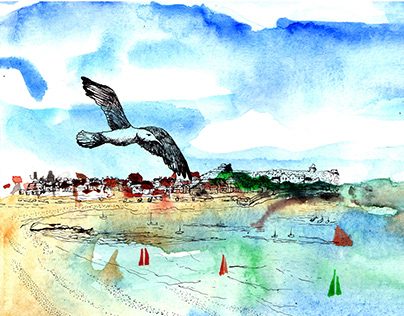 Narrative Illustration - The Seagull's Tale