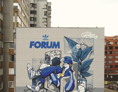 Adidas Forum - Gran formato