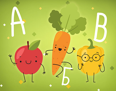 Russian fruit alphabet