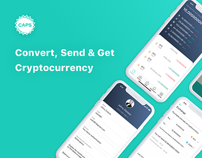 CAPS Online Cryprocurrency Wallet App Ux Ui