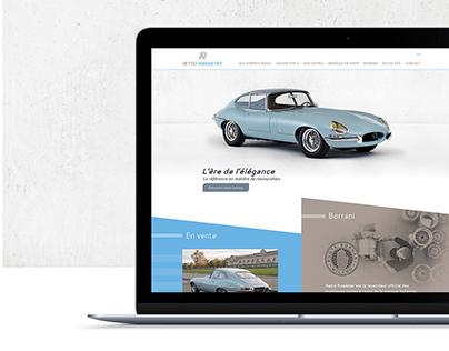 Retro Roadster - Site internet
