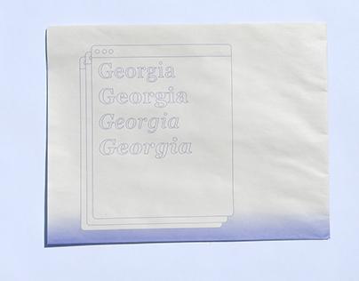 Georgia Type Speciman