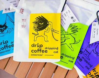 DRIPPING CAT DRIP COFFEE 落汤喵挂耳咖啡 | 包装设计