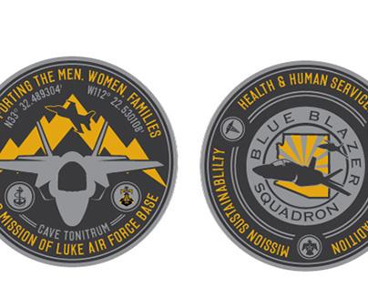 Blue Blazers Squadron - Coin Design