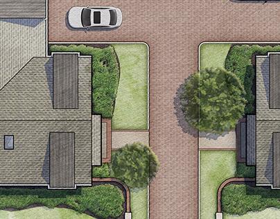 2D Rendered Site Plan