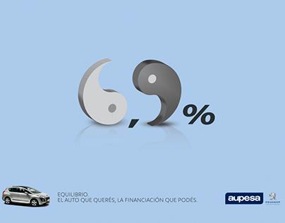 """Aupesa Peugeot """"Equilibrio""""."""
