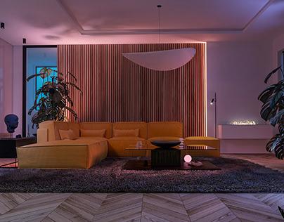 Night Scene Livingroom