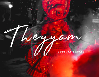 Theyyam. Gods, as equals.