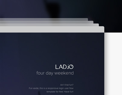 LAD.io - Responsive User Signup Flow