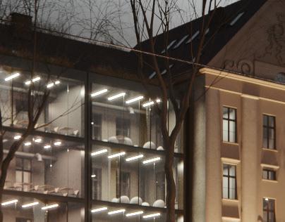 Renovation of the UCU university building. Lviv, UA