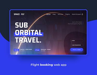 Spacefly - Flight Booking Web App | Concept Design