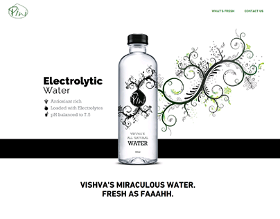 Web Design  - Water Bottling Company