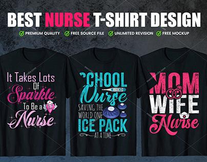 Nurse T-Shirt Design Bundle