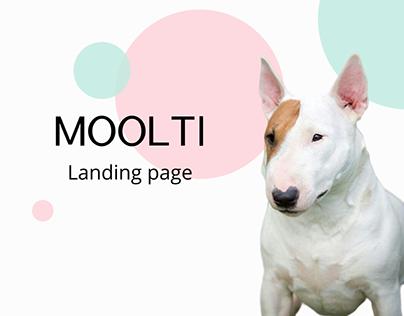 Landing page Moolti - nursery of miniature bull terrier
