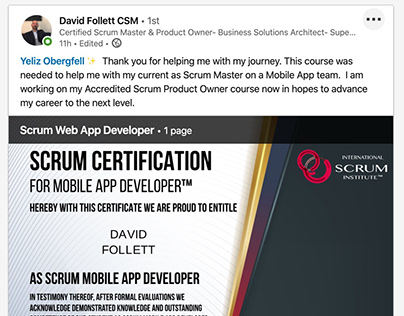 Scrum Institute Official Scrum Certifications
