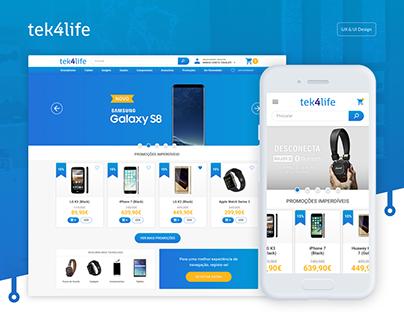 tek4life — Online Store Landing Page & Website