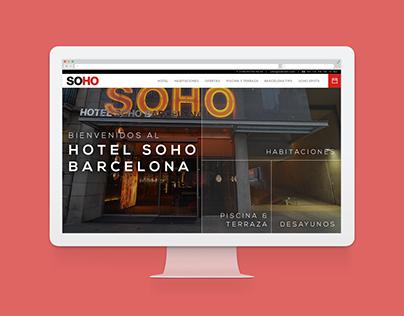 Hotel Soho Barcelona - Website redesign