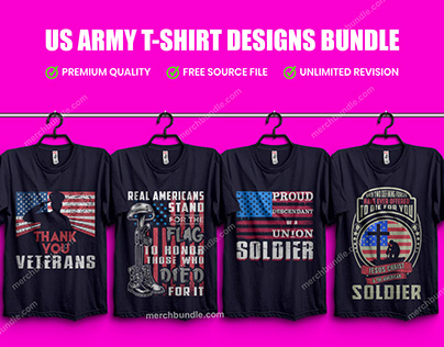 US Army Soldiers Military T-Shirt Design Bundle 2