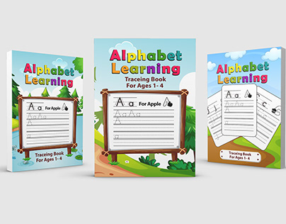 Alphabet Learning Tracing Book For Kids 1-4