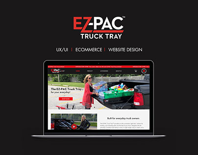 EZ-PAC Truck Tray Ecommerce Website Design