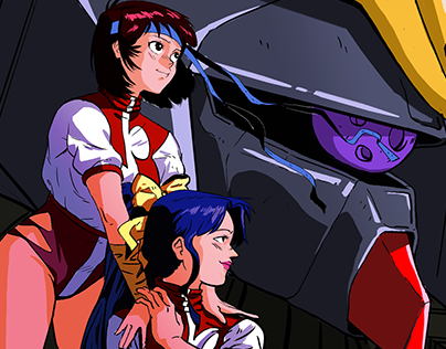 GunBuster Illustration