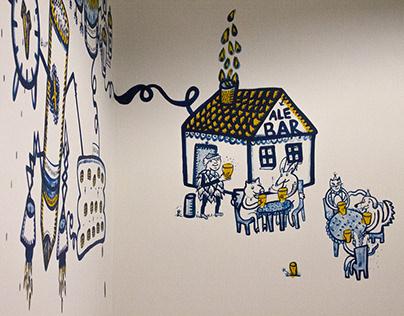ALE BAR mural