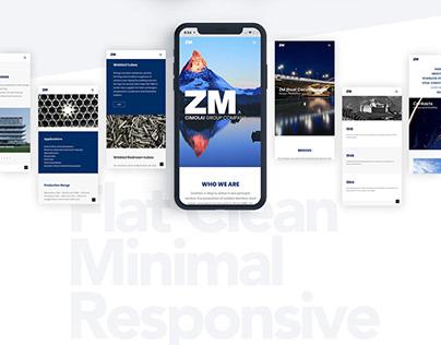 Web Design UX/UI for ZM - Cimolai
