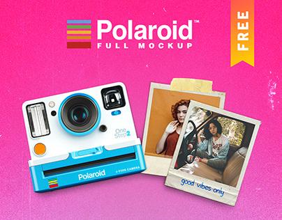 Full Polaroid Mockup FREE