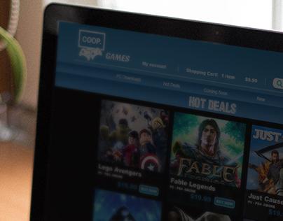 COOP Games Digital Store Concept