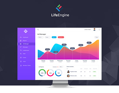 Life Engine UI/UX Design