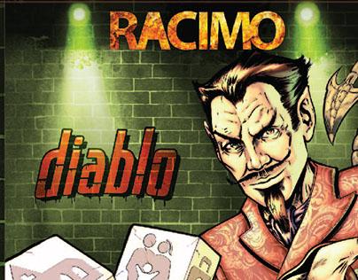 CD Artwork Racimo - Diablo Rock band (Chile)