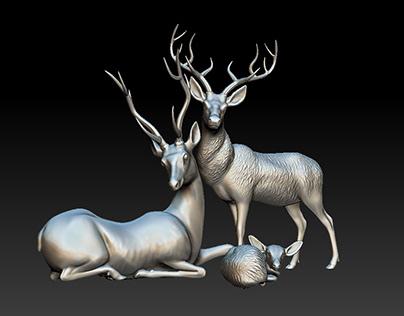 Deers Sculpt