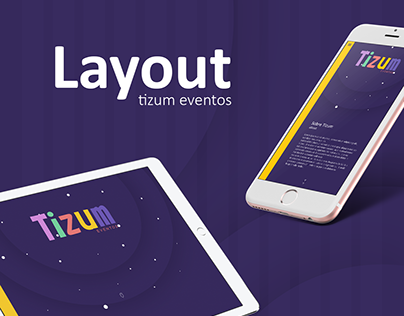 Layout site tizum eventos