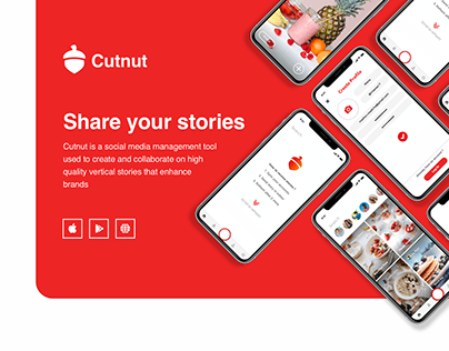 Cutnut - share stories, mobile and desktop