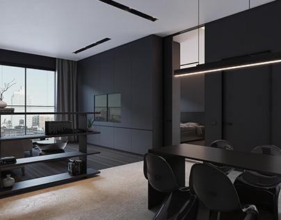 Dark Apartment - Interior Design