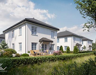 Norwegian small housing estate