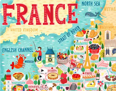 Map of France Illustration