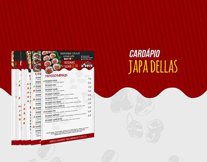 Japa Dellas - Cardápio