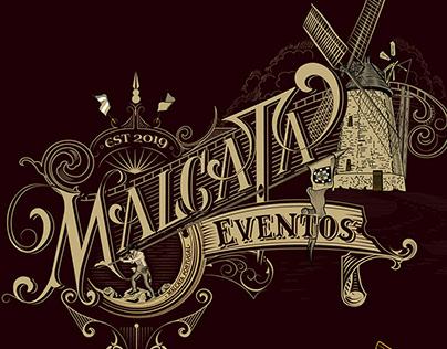 MALCATA - Eventos. Lettering
