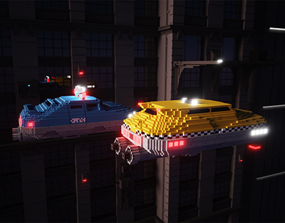 The Fifth Element voxel cars